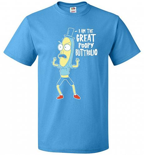 The Great Poopy Buttholio Unisex T-Shirt Pop Culture Graphic Tee (5XL/Pacific Blue) H