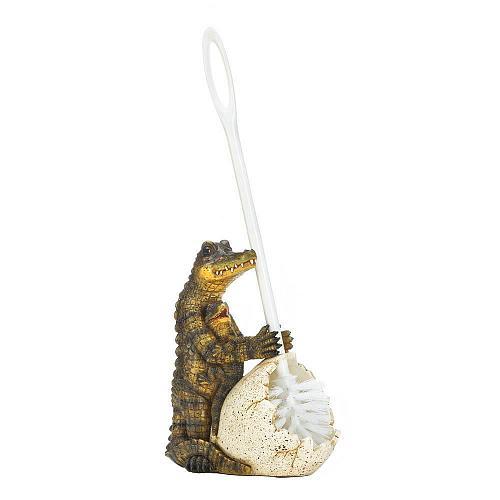 *17730U - Crocodile Family Egg Shell Toilet Brush Holder