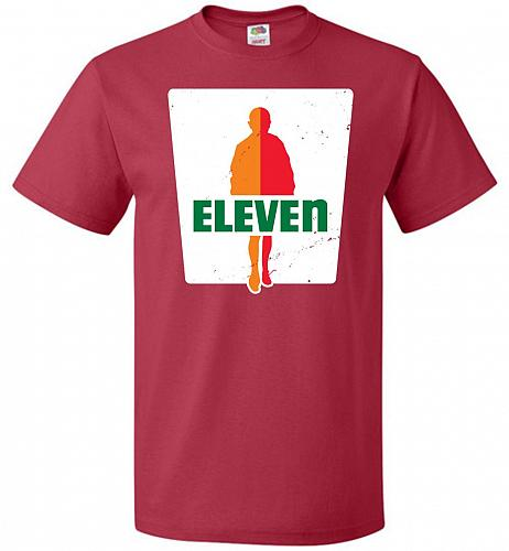 0-Eleven Unisex T-Shirt Pop Culture Graphic Tee (2XL/True Red) Humor Funny Nerdy Geek