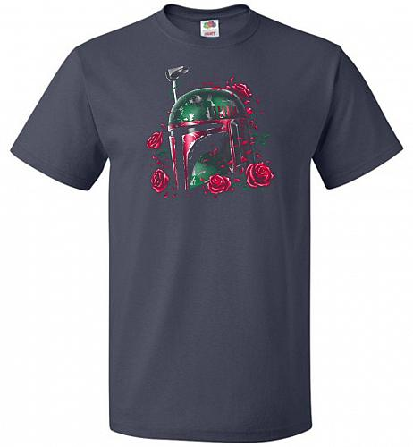 Phantom Of The Empire Fett Unisex T-Shirt Pop Culture Graphic Tee (6XL/J Navy) Humor