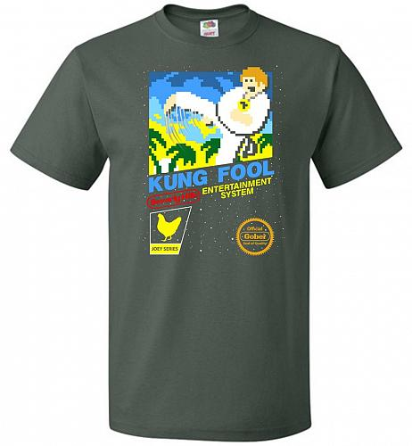 Kung Fool Nintendo Cover Parody Adult Unisex T-Shirt Pop Culture Graphic Tee (5XL/For