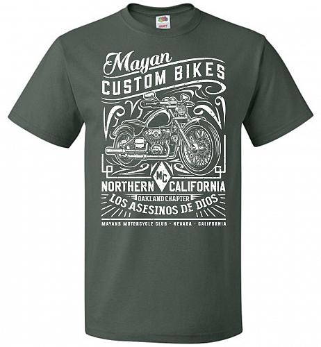 Mayan Custom Bikes Sons Of Anarchy Adult Unisex T-Shirt Pop Culture Graphic Tee (XL/F