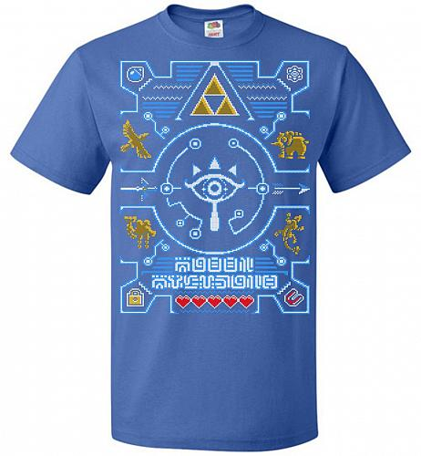 Legend Of Zelda Ugly Sweater Design Adult Unisex T-Shirt Pop Culture Graphic Tee (L/R
