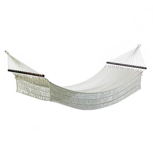 "*18282U - Single Person 78 3/4"" Long Cotton Rope Hammock"