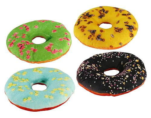 :10904U - Squeaky Dog Toy Donuts Set Of 4