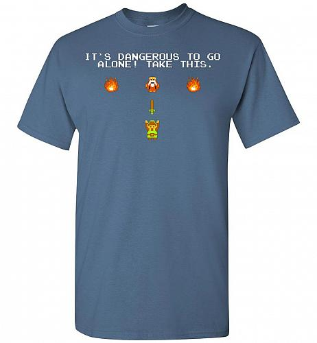 It's Dangerous To Go Alone! Classic Zelda Unisex T-Shirt Pop Culture Graphic Tee (S/I