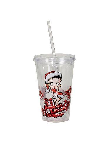 :10816U - Betty Boop Santas Helper 16oz Acrylic Cup