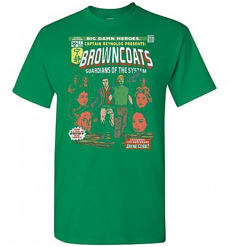 Big Damn Heroes Unisex T-Shirt Pop Culture Graphic Tee (XL/Turf Green) Humor Funny Ne