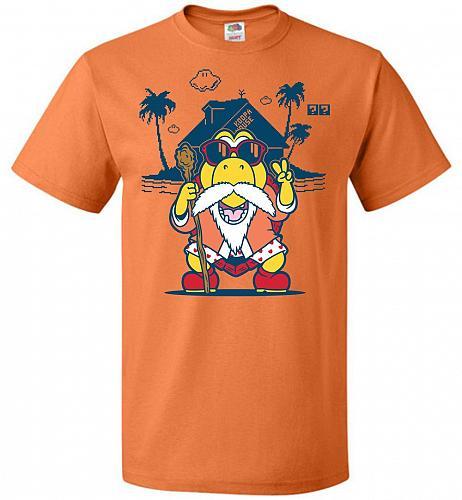 Turtle Hermit Unisex T-Shirt Pop Culture Graphic Tee (M/Tennessee Orange) Humor Funny