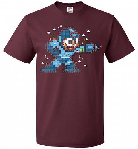 Mega Maker Unisex T-Shirt Pop Culture Graphic Tee (5XL/Maroon) Humor Funny Nerdy Geek