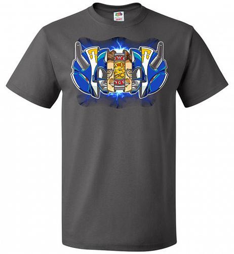 Blue Ranger Unisex T-Shirt Pop Culture Graphic Tee (4XL/Charcoal Grey) Humor Funny Ne