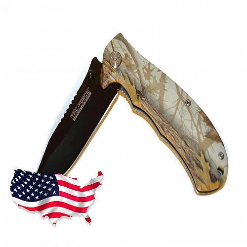Tac-Force Spring Assisted Camo Fever 649 Folding Knife