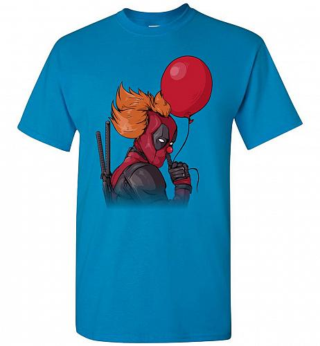 IT is Deadpool Unisex T-Shirt Pop Culture Graphic Tee (L/Sapphire) Humor Funny Nerdy