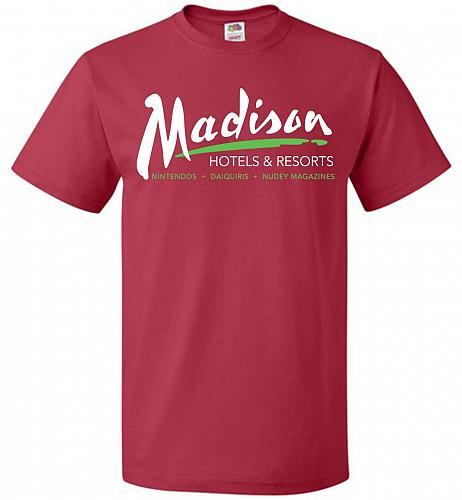 Billy Madison Hotels & Resorts Adult Unisex T-Shirt Pop Culture Graphic Tee (L/True R