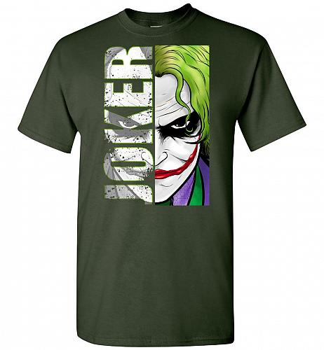 Joker Unisex T-Shirt Pop Culture Graphic Tee (5XL/Forest Green) Humor Funny Nerdy Gee