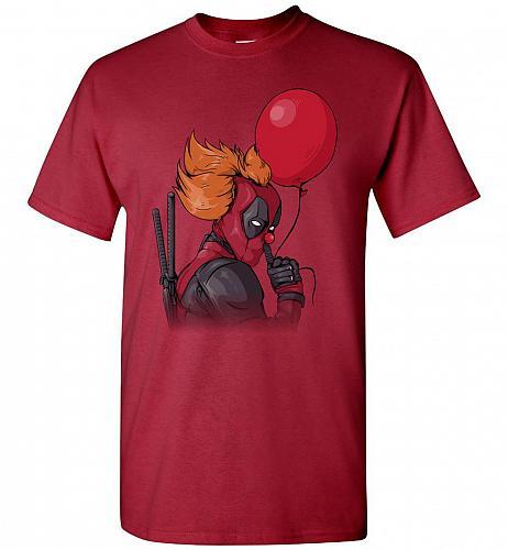 IT is Deadpool Unisex T-Shirt Pop Culture Graphic Tee (5XL/Cardinal) Humor Funny Nerd