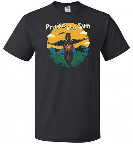 Praise The Sun Unisex T-Shirt Pop Culture Graphic Tee (M/Black) Humor Funny Nerdy Gee