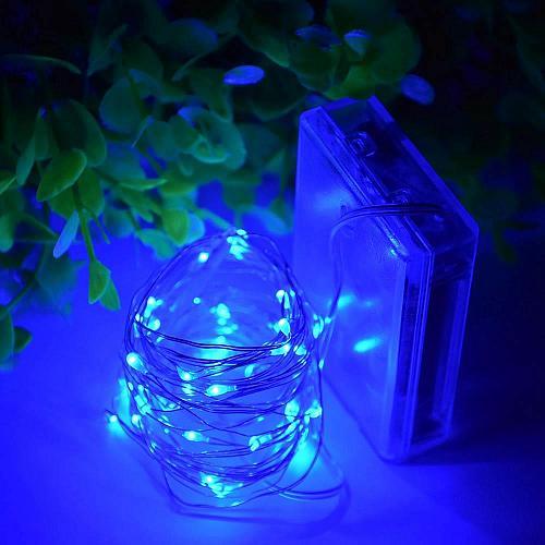 :10844U - 20 LED Copper Wire Blue Fairy Lights
