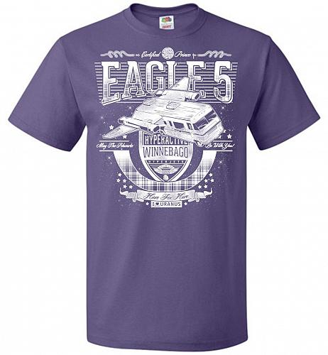 Eagle 5 Hyperactive Winnebago Unisex T-Shirt Pop Culture Graphic Tee (L/Purple) Humor
