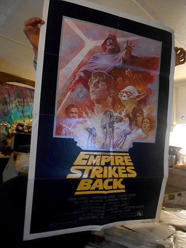 Star Wars Movie Posters 3 different ones ORIGINALS Earliest films. Folded