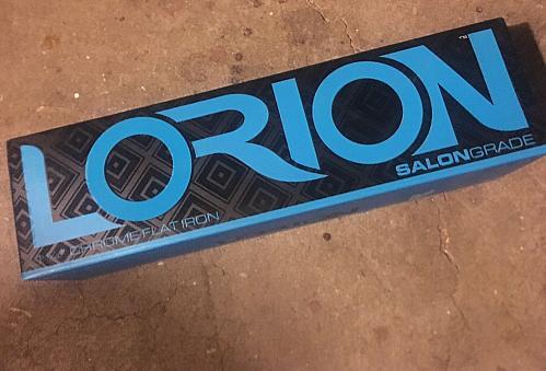 Lorion 1 1/4 inch salon grade Diamond chrome flat iron NIB Universal Voltage