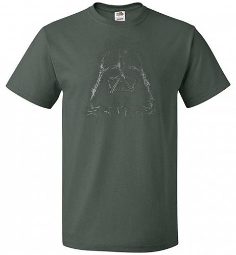 Darth Smoke Unisex T-Shirt Pop Culture Graphic Tee (2XL/Forest Green) Humor Funny Ner