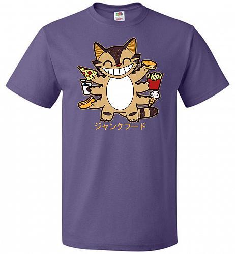 Advantage Unisex T-Shirt Pop Culture Graphic Tee (L/Purple) Humor Funny Nerdy Geeky S
