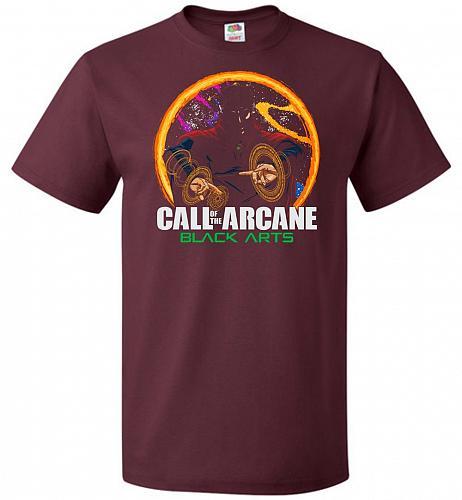 Modern Warlock Unisex T-Shirt Pop Culture Graphic Tee (S/Maroon) Humor Funny Nerdy Ge
