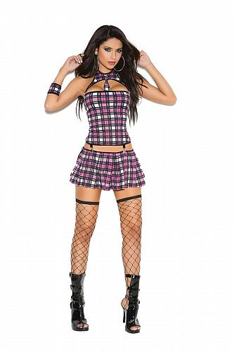 Naughty School Girl 4 pc Costume #9097 Elegant Moments SIZE MED
