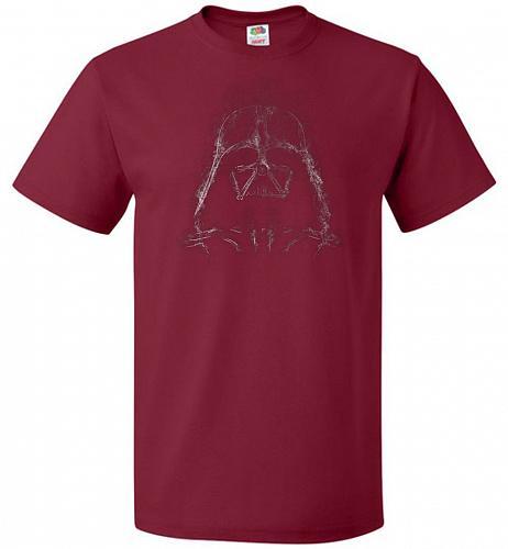 Darth Smoke Unisex T-Shirt Pop Culture Graphic Tee (5XL/Cardinal) Humor Funny Nerdy G