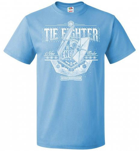 New Order Tie Fighter Unisex T-Shirt Pop Culture Graphic Tee (5XL/Aquatic Blue) Humor