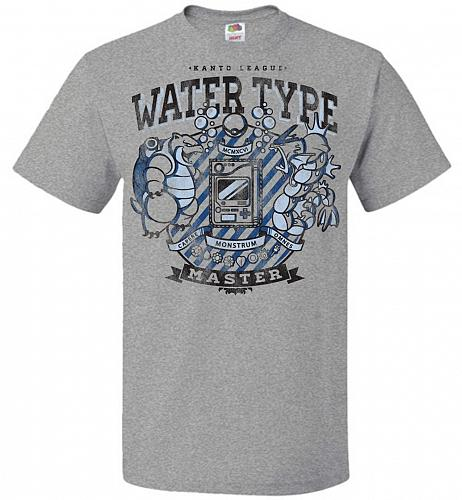 Water Type Champ Pokemon Unisex T-Shirt Pop Culture Graphic Tee (XL/Athletic Heather)