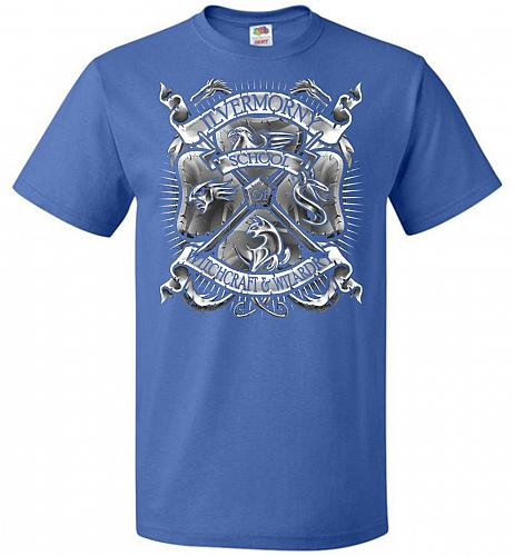 Fantastic Crest Unisex T-Shirt Pop Culture Graphic Tee (3XL/Royal) Humor Funny Nerdy