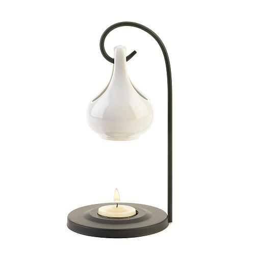15145U - White Ceramic Teardrop Oil Warmer