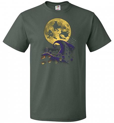 Hocus Pocus Halloween Unisex T-Shirt Pop Culture Graphic Tee (4XL/Forest Green) Humor