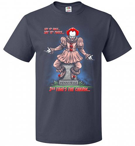 Pennywise The Dancing Clown Adult Unisex T-Shirt Pop Culture Graphic Tee (4XL/J Navy)