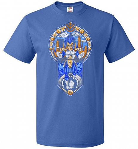 Prince Of All Sayians Unisex T-Shirt Pop Culture Graphic Tee (XL/Royal) Humor Funny N