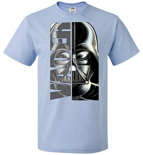 Vader Youth Unisex T-Shirt Pop Culture Graphic Tee (Youth M/Light Blue) Humor Funny N