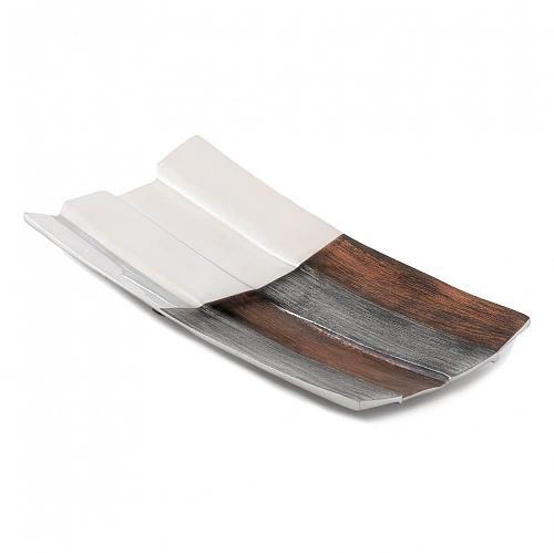 *17350U - Commix Contemporary Aluminum Long Accent Dish