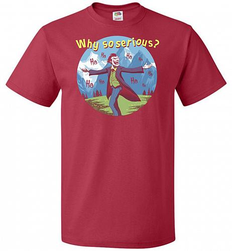 The Sounds Of Joker Unisex T-Shirt Pop Culture Graphic Tee (XL/True Red) Humor Funny