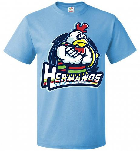 Hermanos New Mexico Unisex T-Shirt Pop Culture Graphic Tee (M/Aquatic Blue) Humor Fun