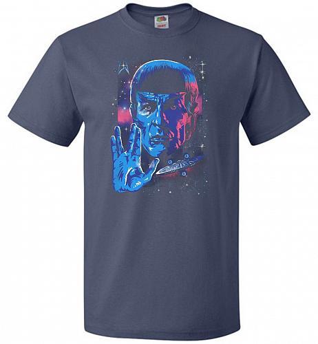 Live Long And Prosper Unisex T-Shirt Pop Culture Graphic Tee (6XL/Denim) Humor Funny