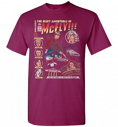 Heavy Adventures Of McFly! Unisex T-Shirt Pop Culture Graphic Tee (XL/Berry) Humor Fu