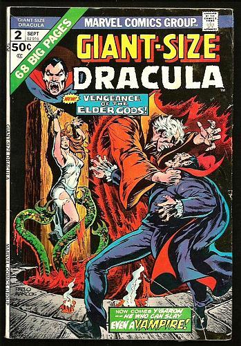 GIANT-SIZE DRACULA #2 Marvel Comics Chris CLAREMONT Don Heck 1974 -- 68 pages