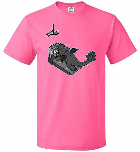 A More Effective Training Unisex T-Shirt Pop Culture Graphic Tee (S/Neon Pink) Humor