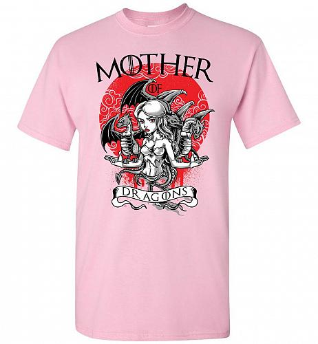 Mother of Dragons Unisex T-Shirt Pop Culture Graphic Tee (L/Light Pink) Humor Funny N