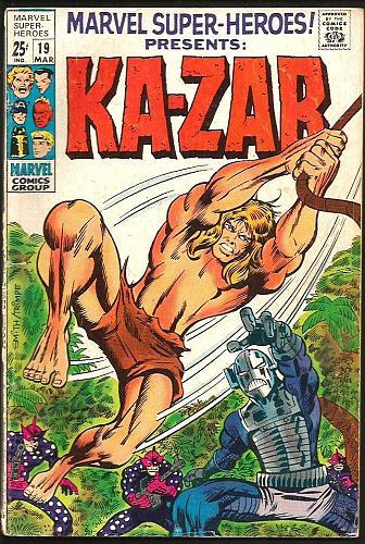 Marvel Super-Heroes KA-ZAR #19 MarvelComics 1969 Capt.America Torch BlackKnight+