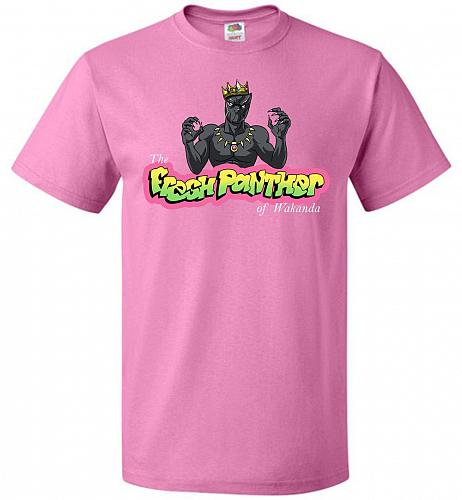 Fresh Panther Unisex T-Shirt Pop Culture Graphic Tee (M/Azalea) Humor Funny Nerdy Gee