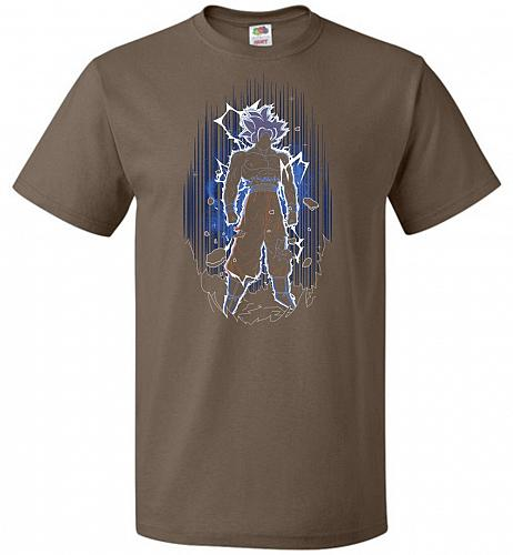 Shadow Of The Ultra Instinct Unisex T-Shirt Pop Culture Graphic Tee (S/Chocolate) Hum