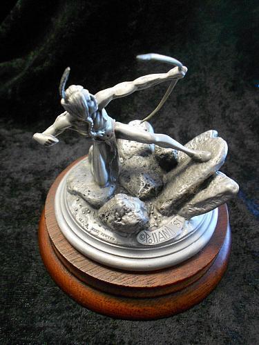 LAST ARROW Indian Chilmark Sculpture by Polland-1981 Ltd Ed 2343/2500-SIGNED!